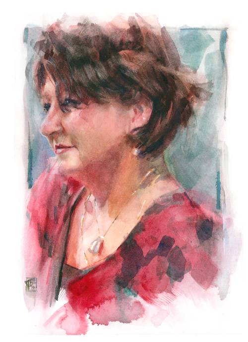 Barbara, water color on 23x31cm paper