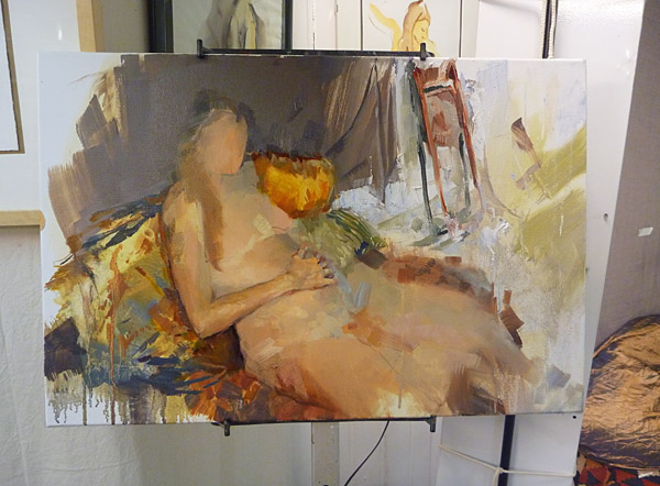 Branka - oil on canvas - work in progress