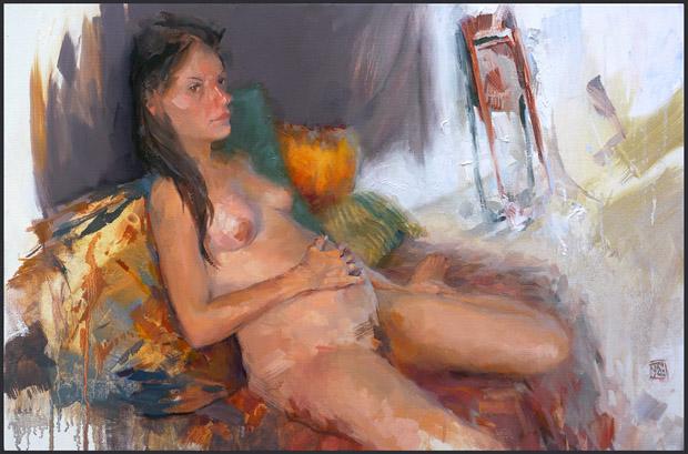 """""""Branka"""", oil on 60x40cm linen"""