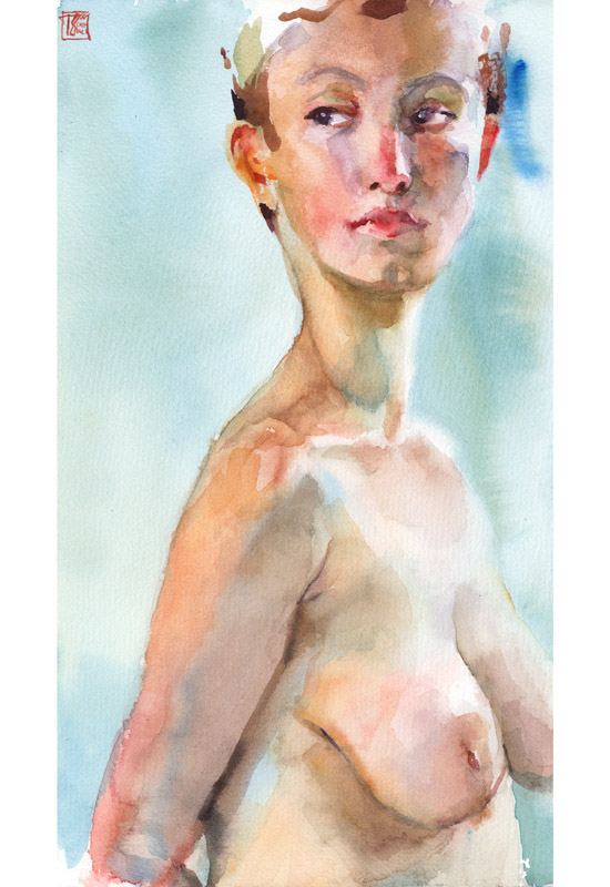 """Federica"" - watercolor on 25x35 cm paper"