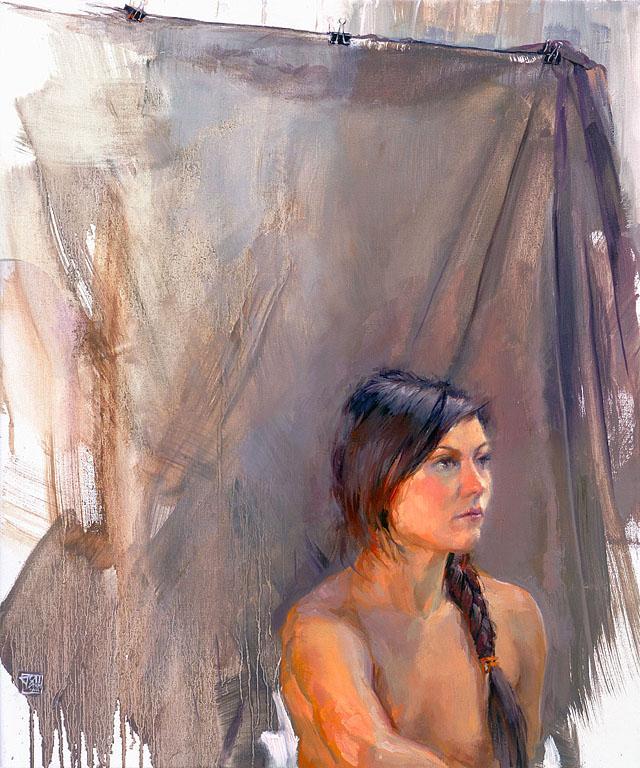 """Marta"" - oil on 60 x 50 cm linen"