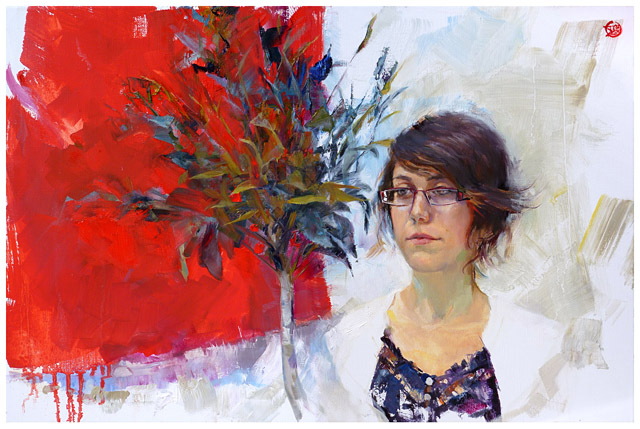 Elise - 2012 - oil on 60x40 cm canvas