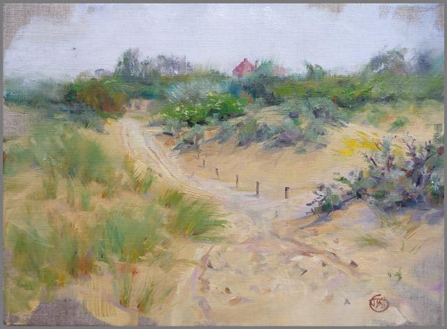 Duinpad - oil on 30x40cm linen canvas