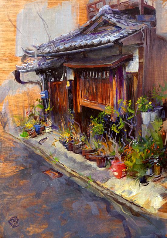 Thomas Schmall - Kyoto - Machyia with Pots.