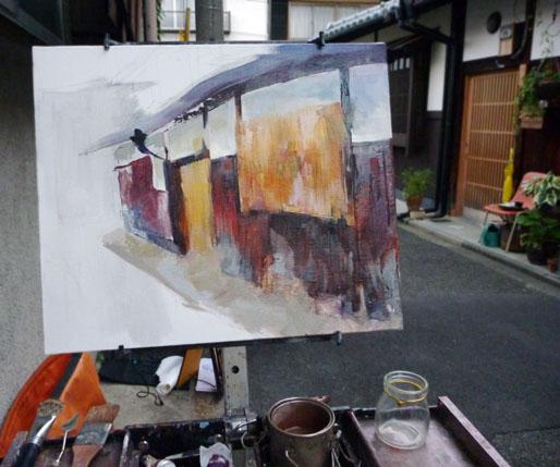 Machiya Painting Step 2 - base
