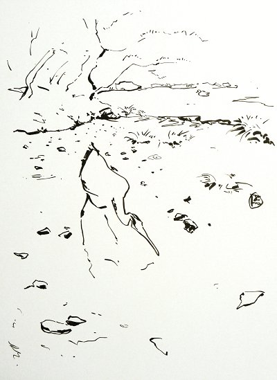 Murin-An Sketch03 Heron
