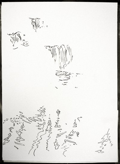 Murin-An Sketch04 Waterfalls