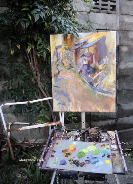 machiya Work in Progress - and Palette