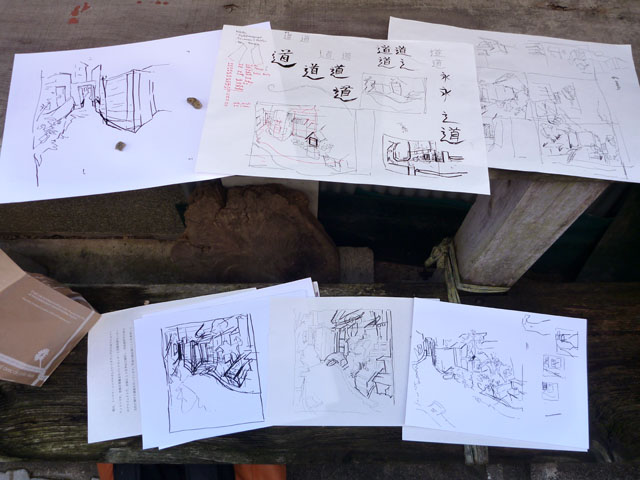 More sketches of back-alley