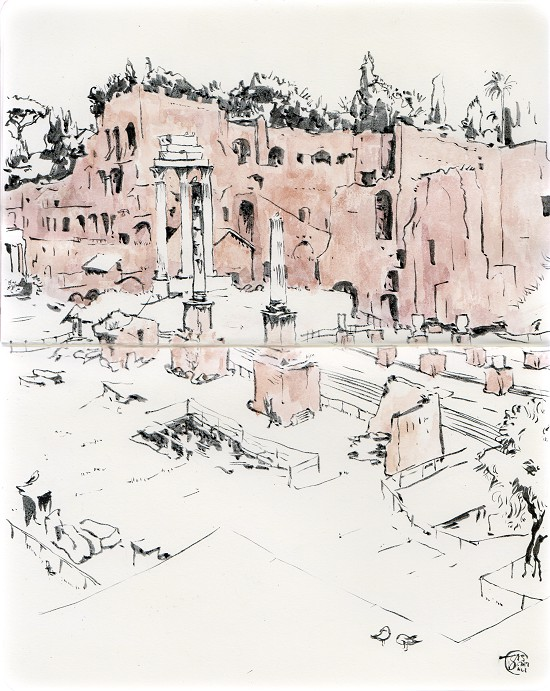 Forum Romanum Drawing