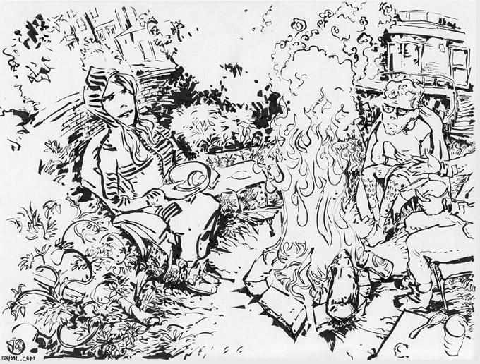 Bonfire drawing