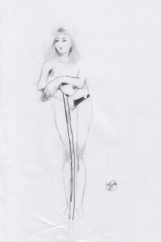 Life Drawing - Girl with sword