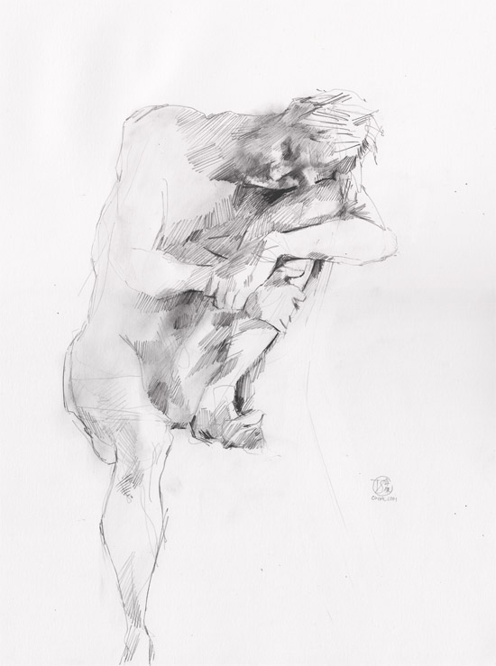 Life Drawing - Man sitting