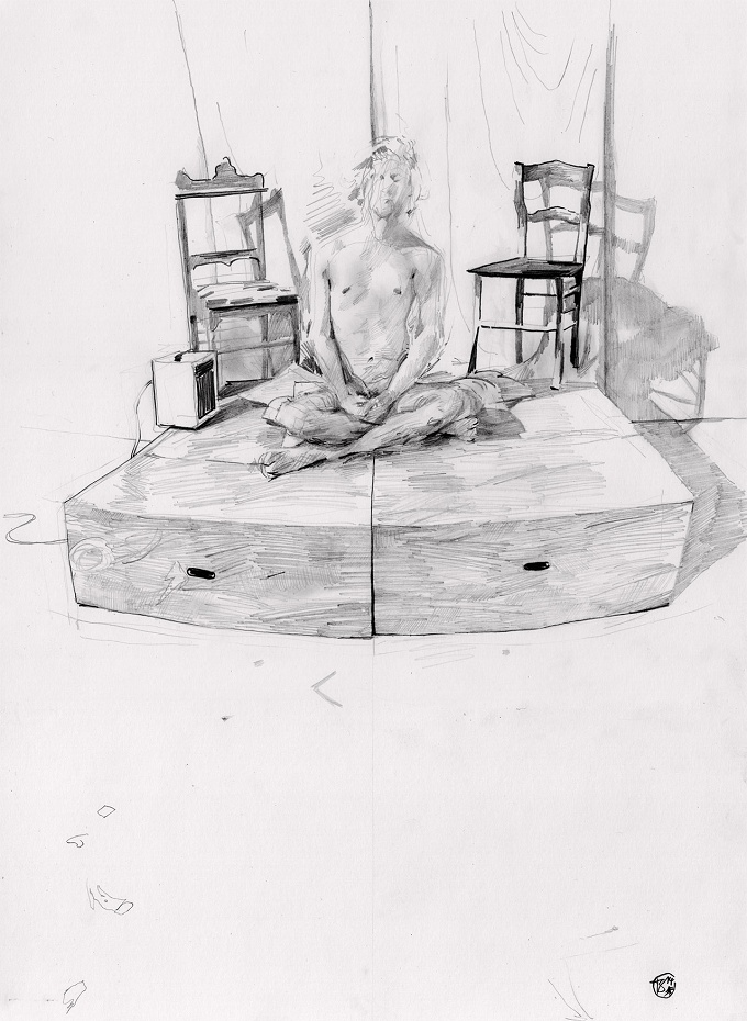 Figure Drawing in Pencil