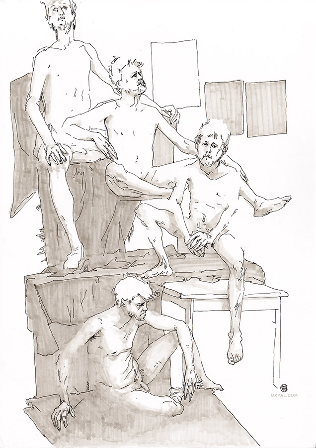 Figure Drawing Male - Ink