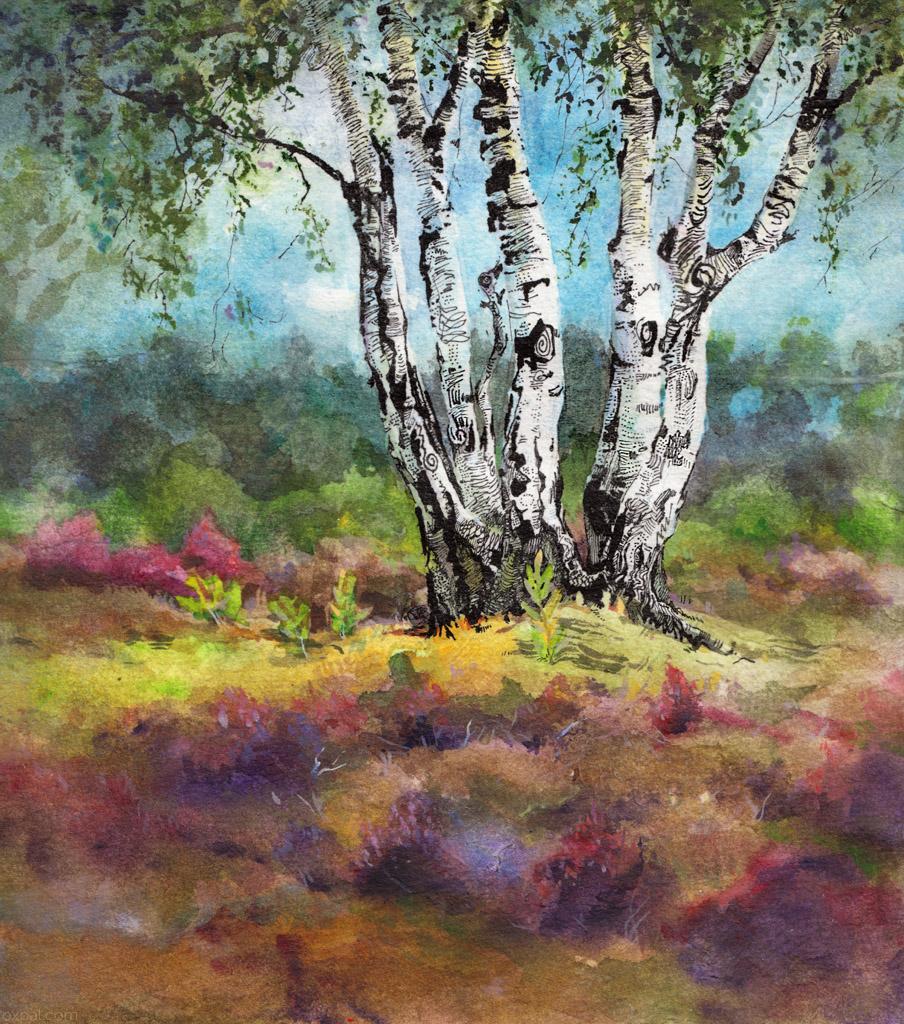 Heathlands painting