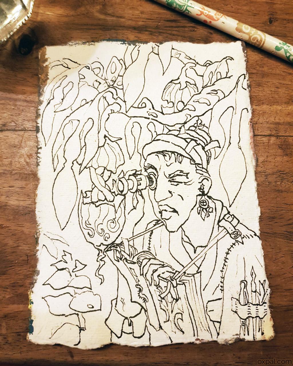 Botanist Sketch