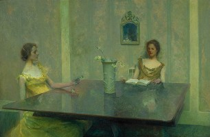 Thomas Dewing - A Reading (1897)