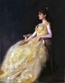 Thomas Dewing - Lady in Yellow