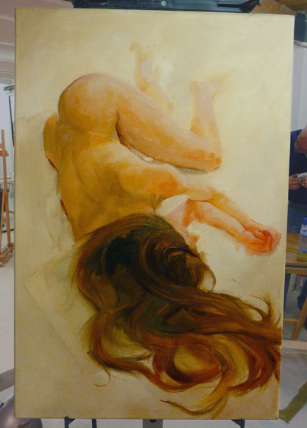 Yola - Work in Progress - Oil on canvas, 40x60