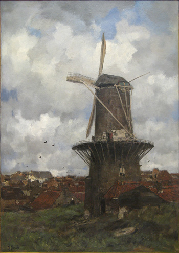 Jacob Maris  (1837-1899) - Stenen Molen