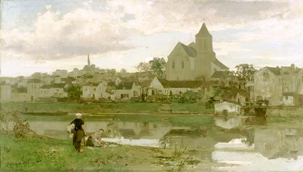 Town - by Jacob Maris (1837-1899)