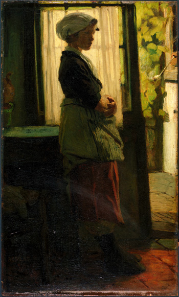 Jacob Maris (1837-1899) - Woman Oil