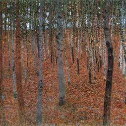 "Gustav Klimt, 1902, ""Beech Grove"" (or Beech Forest), oil on canvas"