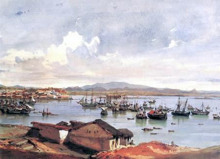 Eduard Hildebrandt - Panorama at Rio de Janeiro (1844)