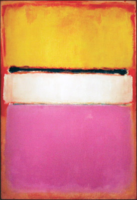 Mark Rothko - White Center (Yellow, Pink and Lavender on Rose) (1950)