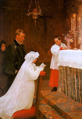 Pablo Picasso - First Communion (1895) age 15