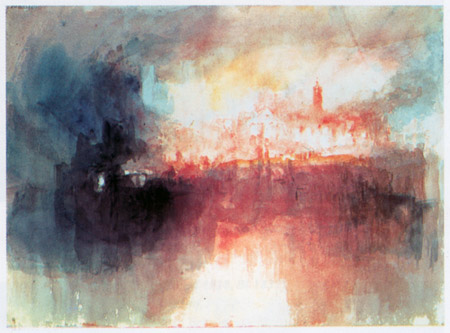 William Turner - Incident at the London Parliament (1834)