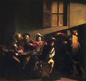 Caravaggio - The Calling of Saint Matthew (1599-1600)