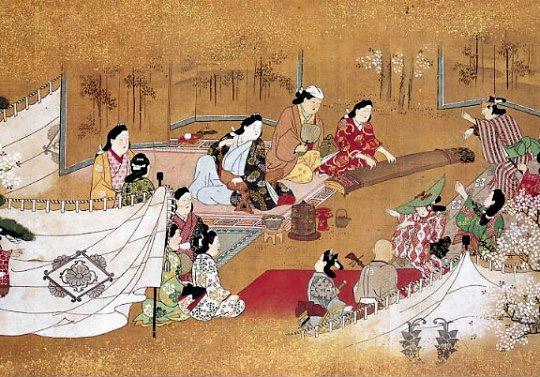 Hishikawa Moronobu - 'Spring Picknick (unofficial_Title)' (17th century)
