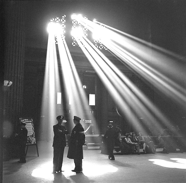 In the waiting room of the Union Station (1943) Chicago, Illinois.