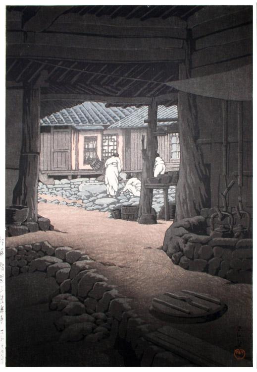 Kawase Hasui - Modan Viewpoint Pyongyang Korea (1940)