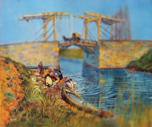 Van Gogh - 'Pont de Langlois' (1888) - tiltshift