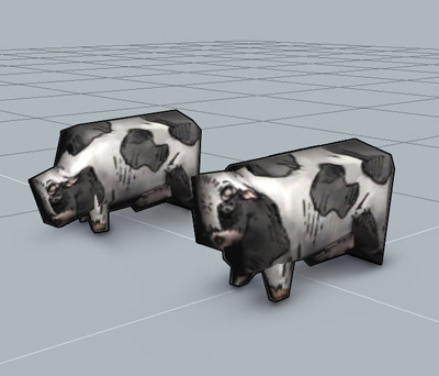 These cows are very excited about their future appearance in the game.
