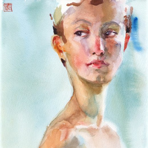 Watercolor Portrait Federica