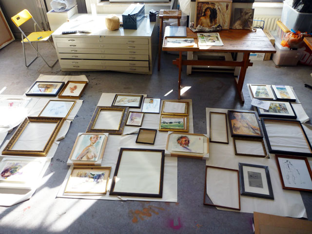 Frames lined up in the Studio - nearly done