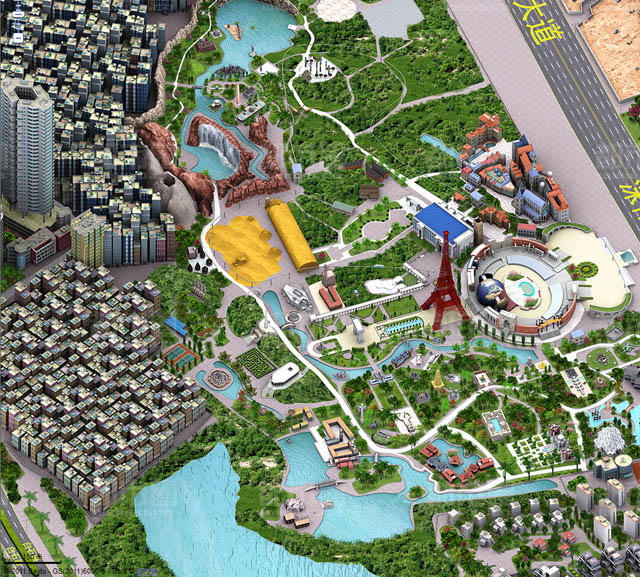 There is some amazing amusement park in one city - with signature monuments from all over the world..