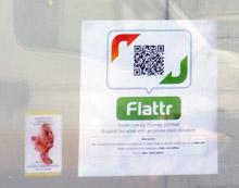 Yoga Lab Art display Amsterdam - Flattr button