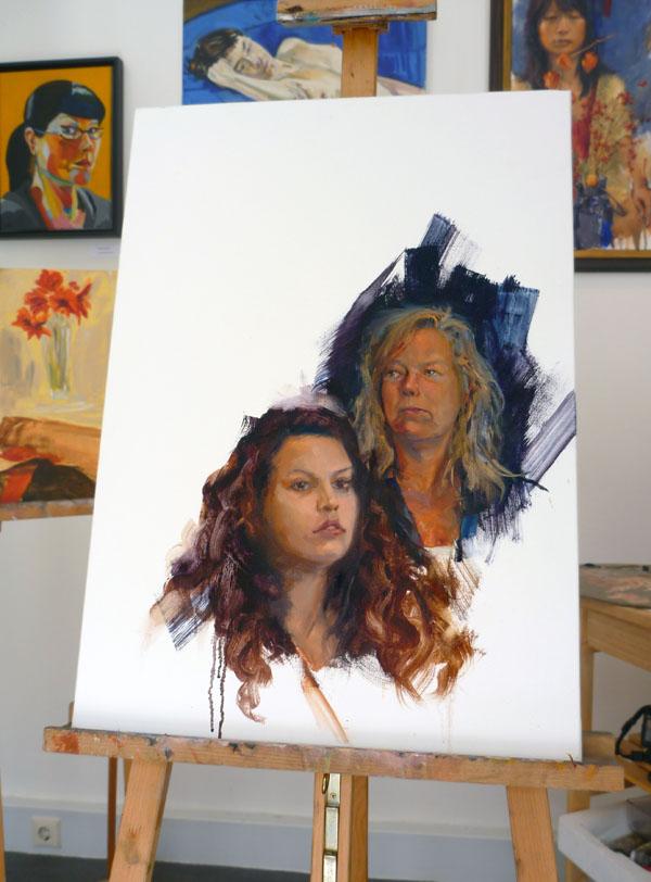 CCJJB Work in progress, oil on... big canvas