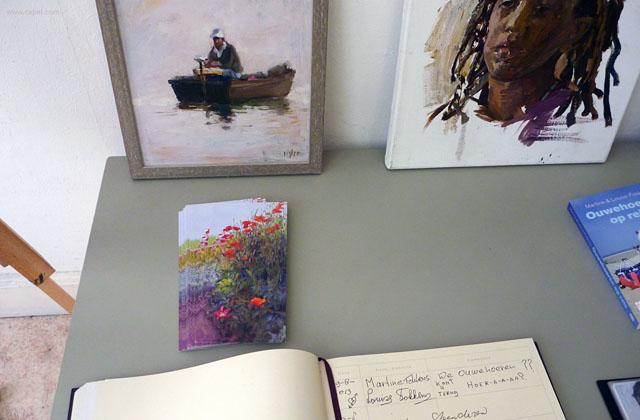 Postcard, flowers