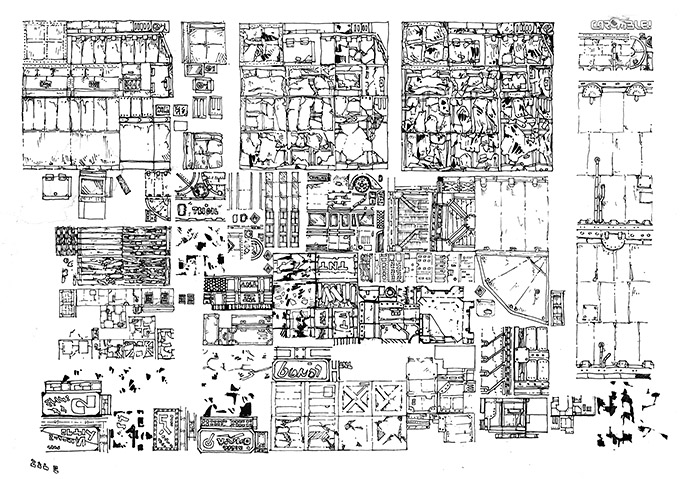 A4 ink texture sheet