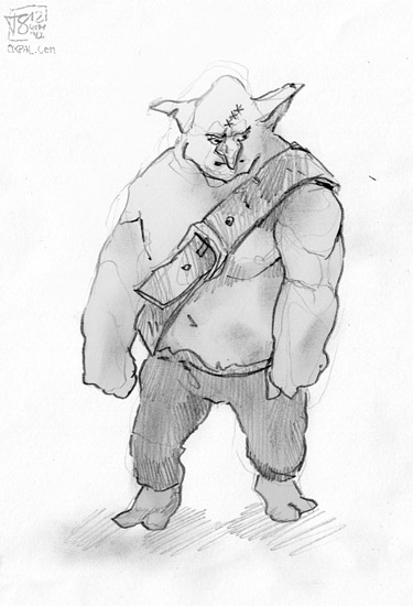 Buff Goblin Pencil drawing