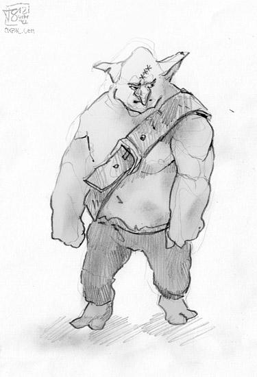 Buff Goblin Pencil drawing