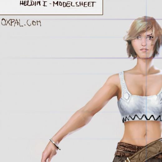 Girl Model sheet