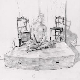 Three Pencil Figures