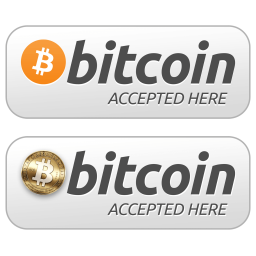 Bitcoin Accepted Here Logos